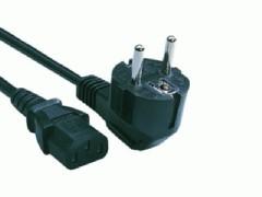 InLine Kaltgeräte- / Netzkabel, C13 auf Stecker mit Schutzkontakt, 3 m