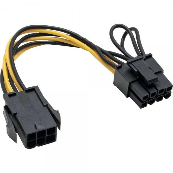 Stromadapter intern - 6-Pin zu 8-Pin für PCIe Grafikkarten, 0,15 m