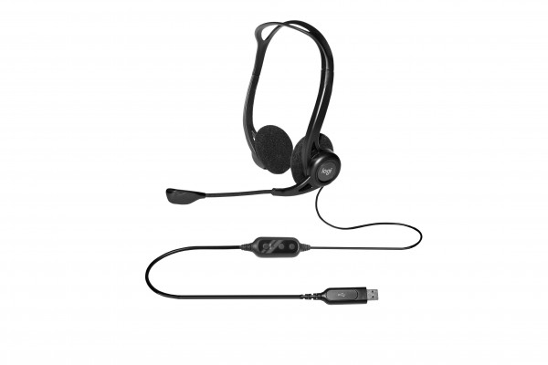 Logitech 960 USB Headset schwarz