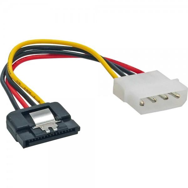 """SATA Stromadapterkabel - Molex IDE Strom-Buchse (1 x 13,34 cm - 5,25"""") auf 15-Pin SATA Stecker"""
