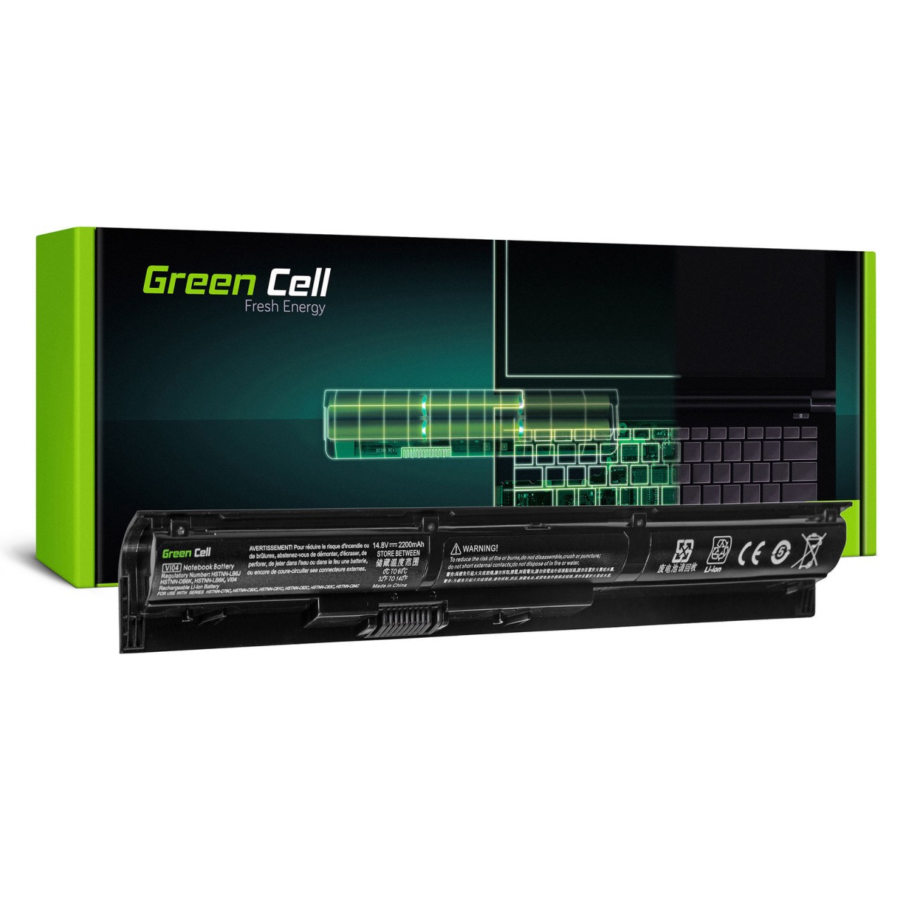 Green Cell® Notebook Akku HSTNN-LB6I 756479-421 756743-001 TPN-Q140 für HP