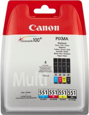 Canon CLI-551Multipack Schwarz / Cyan / Magenta / Gelb