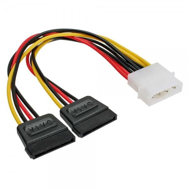 SATA 15-Pin zu 4 Pin Molex IDE Stromadapterkabel Stecker