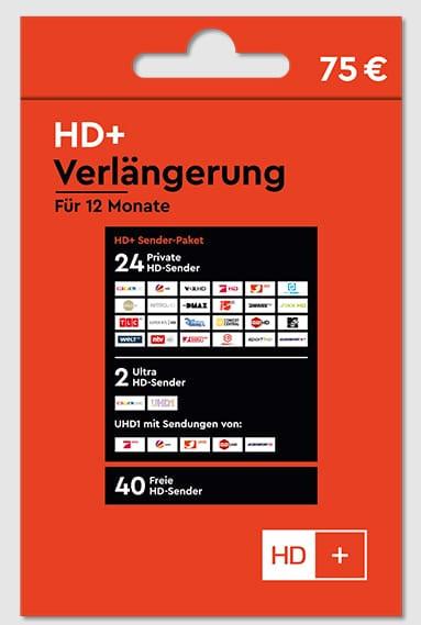 HD+ Verlängerung für 12 Monate für alle HD+ Karten HD01/02/03/04 geeignet